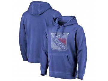 Mikina New York Rangers Shadow Washed Logo Pullover Hoodie