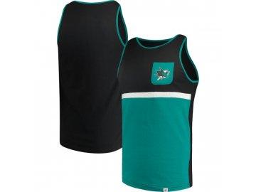 Tílko San Jose Sharks Color Block Pocket