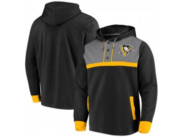 Mikina Pittsburgh Penguins True Classics 3-Button Pullover Hoodie