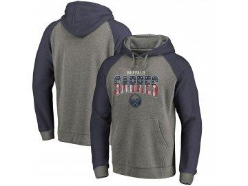 Mikina Buffalo Sabres Freedom Tri-Blend Raglan Pullover Hoodie