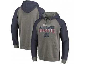 Mikina Colorado Avalanche Freedom Tri-Blend Raglan Pullover Hoodie