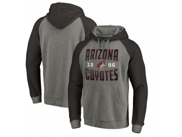 Mikina Arizona Coyotes Timeless Collection Antique Stack Tri-Blend Raglan