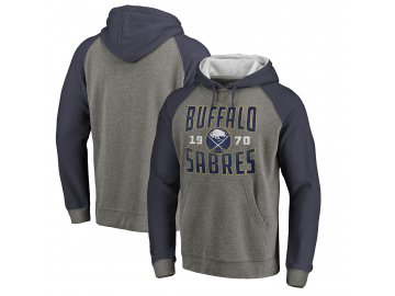 Mikina Buffalo Sabres Timeless Collection Antique Stack Tri-Blend Raglan