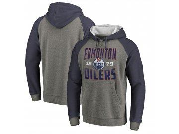 Mikina Edmonton Oilers Timeless Collection Antique Stack Tri-Blend Raglan