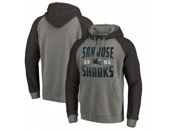 Mikina San Jose Sharks Timeless Collection Antique Stack Tri-Blend Raglan