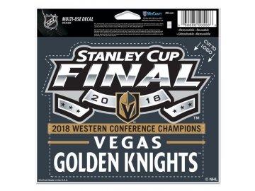 Samolepka Vegas Golden 2018 Western Conference Champions 12,5x15 cm