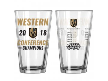 Sklenice Vegas Golden Knights 2018 Western Conference Champions Pint Glass