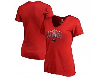 Dámské tričko Washington Capitals 2018 Stanley Cup Champions Locker Room Appeal Play Red
