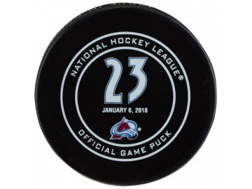 Puk Milan Hejduk January 6, 2018 Retirement Night Official Game Puck