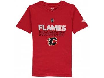 Dětské Tričko Calgary Flames Adidas Authentic Ice