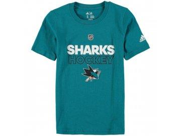 Dětské Tričko San Jose Sharks Adidas Authentic Ice