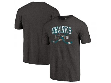 Tričko San Jose Sharks Vintage Line Shift Tri-Blend