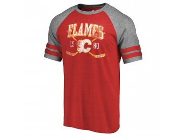 Tričko Calgary Flames Line Shift Tri-Blend