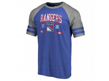 Tričko New York Rangers Line Shift Tri-Blend