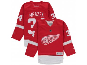 Dětský dres Detroit Red Wings #34 Petr Mrazek Reebok Replica Home