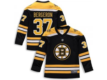 Dětský Dres #37 Patrice Bergeron Boston Bruins Replica Home Jersey
