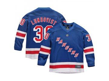 Dětský Dres #30 Henrik Lundqvist New York Rangers Replica Home Jersey
