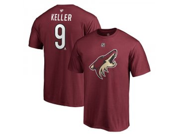 Tričko #9 Clayton Keller Arizona Coyotes Stack Logo Name & Number