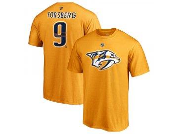Tričko #9 Filip Forsberg Nashville Predators Stack Logo Name & Number
