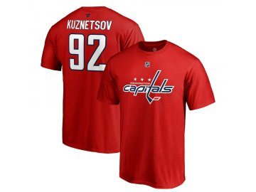 Tričko #92 Evgeny Kuznetsov Washington Capitals Stack Logo Name & Number