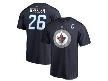 Tričko #26 Blake Wheeler Winnipeg Jets Stack Logo Name & Number