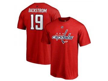 Tričko #19 Nicklas Backstrom Washington Capitals Stack Logo Name & Number
