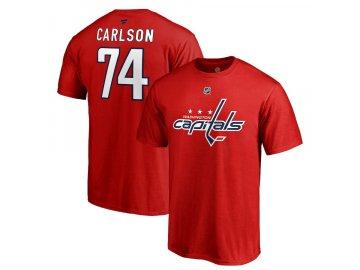 Tričko #74 John Carlson Washington Capitals Stack Logo Name & Number