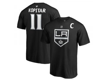 Tričko #11 Anze Kopitar Los Angeles Kings Stack Logo Name & Number