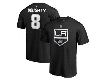 Tričko #8 Drew Doughty Los Angeles Kings Stack Logo Name & Number