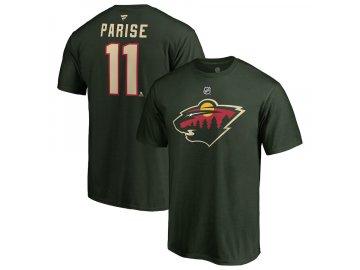 Tričko #11 Zach Parise Minnesota Wild Stack Logo Name & Number