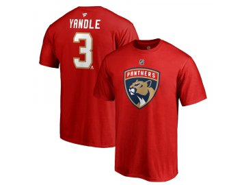 Tričko #3 Keith Yandle Florida Panthers Stack Logo Name & Number