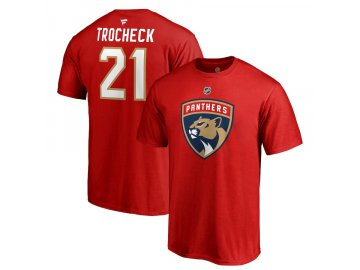 Tričko #21 Vincent Trocheck Florida Panthers Stack Logo Name & Number