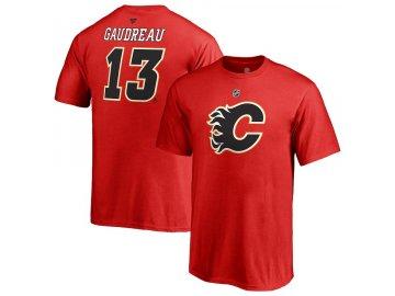 Dětské Tričko #13 Johnny Gaudreau Calgary Flames Stack Logo Name & Number