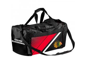 Sportovní Taška Chicago Blackhawks Border Stripe Duffel Bag