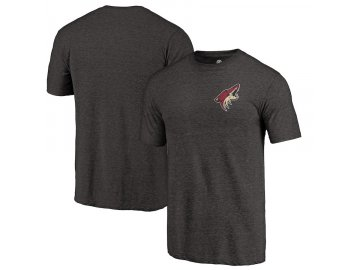 Tričko Arizona Coyotes Primary Logo Left Chest Distressed Tri-Blend