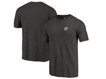 Tričko Dallas Stars Primary Logo Left Chest Distressed Tri-Blend