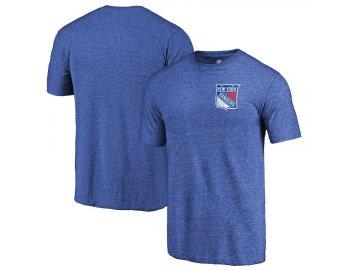 Tričko New York Rangers Primary Logo Left Chest Distressed Tri-Blend