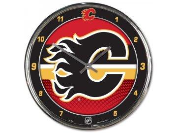 Hodiny Calgary Flames WinCraft Chrome Wall Clock