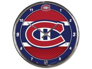 Hodiny Montreal Canadiens WinCraft Chrome Wall Clock