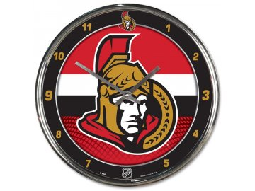 Hodiny Ottawa Senators WinCraft Chrome Wall Clock
