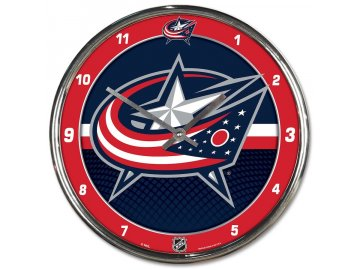 Hodiny Columbus Blue Jackets WinCraft Chrome Wall Clock