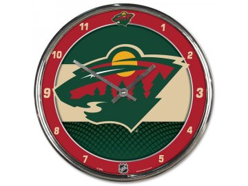 Hodiny Minnesota Wild WinCraft Chrome Wall Clock