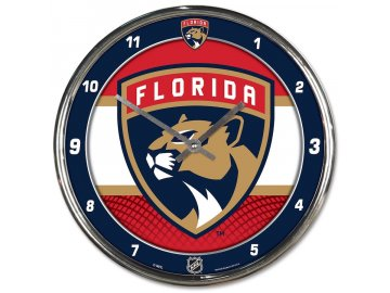 Hodiny Florida Panthers WinCraft Chrome Wall Clock