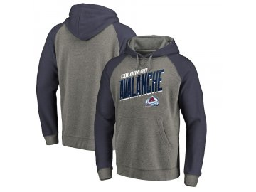 Mikina Colorado Avalanche Slant Strike Hoodie Tri-Blend