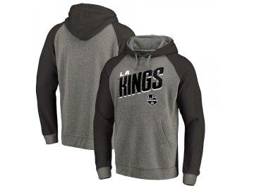 Mikina Los Angeles Kings Slant Strike Hoodie Tri-Blend