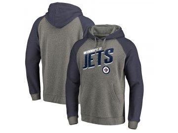 Mikina Winnipeg Jets Slant Strike Hoodie Tri-Blend