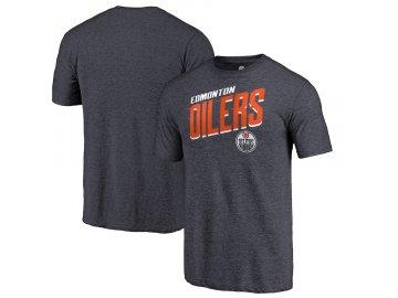 Tričko Edmonton Oilers Slant Strike Tri-Blend