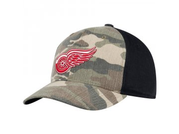 Kšiltovka Detroit Red Wings Adidas Camo Adjustable