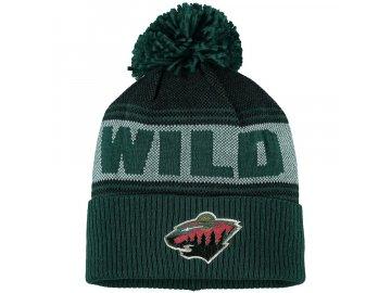 Zimní Čepice Minnesota Wild Adidas Mascot Cuffed Knit