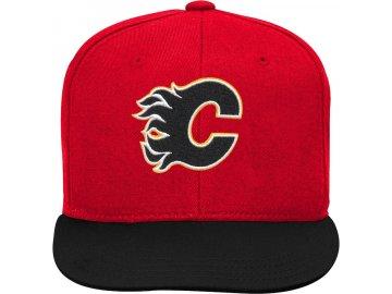 Dětská Kšiltovka Calgary Flames Two-Tone Flatbrim Snapback